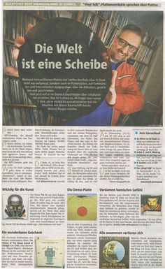 """Dash all over the place in the three biggest newspapers of the Ruhr-Area Germany today - thanks to highly respected Kulturchef Tilman Abegg for the article about my work and passion for the people, vinyl, music and the love itself. Calling all open minded and mild-mannered hearts and hips: catch Dash (Steffen Korthals) at the """"Vinyl Talk""""-roundtable this Thursday, 31.03.2016, at renowned """"domicil"""" Dortmund. You are welcome!"""