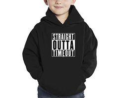Toddler Little Boy Straight Outta Timeout Hoodie Sweatshirt 4T BLACK