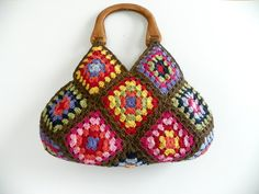 NzLbags New  Multicolor Summer Bag Afghan Crochet Bag by NzLbags-sold but so pretty