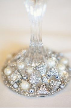 17 best champagne flutes diy images on pinterest champagne diy vintage crystal embellishments on champagne flutes and wine glass stems solutioingenieria Image collections