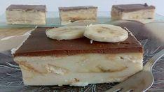 Nepečené banánové řezy se sušenkami a vanilkovým pudinkem! – Milujeme recepty