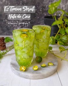 Indonesian Desserts, Asian Desserts, Indonesian Food, Indonesian Recipes, Healthy Juices, Healthy Drinks, Dessert Drinks, Yummy Drinks, Milk Tea Recipes
