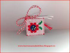 lucru manual adelina: Martisor etamina floricica tricolora Spring Time, Cross Stitch, Traditional, Christmas Ornaments, Holiday Decor, Blog, Cards, Image, Lockets