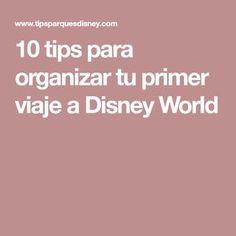 10 tips para organizar tu primer viaje a Disney World