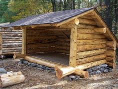 lean tos gazebos and one room cabins. I would love to try this summer project with the kids down by the creek One Room Cabins, Cabins And Cottages, Cabins In The Woods, Small Log Cabin, Wood Shed, Survival Shelter, Outdoor Projects, Log Homes, Bushcraft