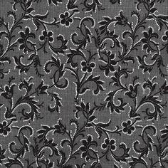 Timeless Treasures Tres Jolie Paris Black Etched Vine   Fabric