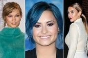 Beauty Showdown: Who Had The Best Hair & Makeup Look This Week? - Celebrity Beauty - StyleBistro -  NOVEMBER 23, SATURDAY, 2013 - THE LADY HAS A LOVELY SMILE AND BLUE HAIR TO COMPLIMENT EVERY SINGLE FIBER OF THE ESSENCE OF HER BEAUTY >