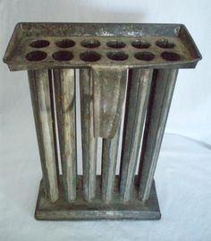 Antique tin candle mold 12 tapers 1780  120. ships free