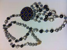 Necklace semi-precious stones and silver