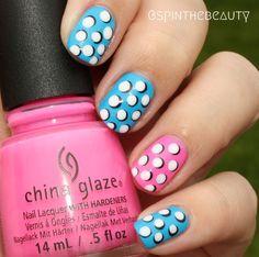 #dots #dotticure #3ddots #chinaglaze #nailart #notd #WeekendOffNailArtChallenge – Dots #spinthebeauty