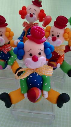 Variations for Clown Cake Ultimate bk bd cakes Carnival Themed Party, Circus Party, Circus First Birthday, Clay Candle Holders, Felt Doll Patterns, Cake Banner, Polymer Clay Figures, Clay Ornaments, Felt Dolls