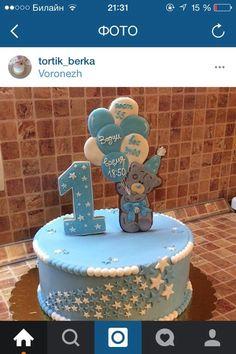Cake toper aus Keks Teig , bemalt