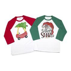 Kids Holiday Raglan Tees Felt Tree, Holidays With Kids, Raglan Tee, Little Ones, Unisex, Oklahoma, Tees, Prints, Cotton
