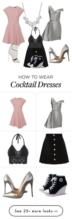 """""""Untitled #1026"""" by natalia-bravo-echevarria on Polyvore featuring Givenchy, Maticevski, TIBI, AG Adriano Goldschmied, Giuseppe Zanotti and Christian Louboutin"""