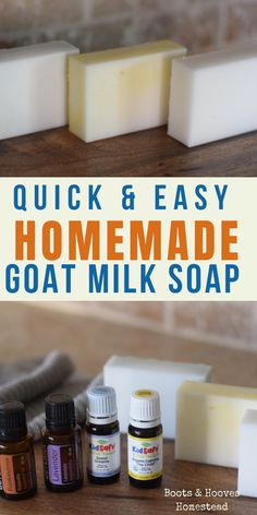 How to make a quick & easy homemade goat milk soap recipe at home. How to make a quick & easy homemade goat milk soap recipe at home. Goat Milk Recipes, Lotion Recipe, Soap Making Supplies, Homemade Soap Recipes, Homemade Products, Easy Recipes, Goat Milk Soap, Home Made Soap, Deodorant