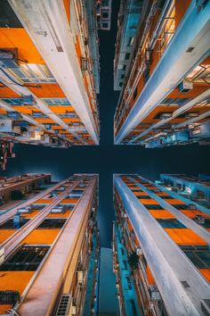 Hong Kong High Rises Photographed from the ground