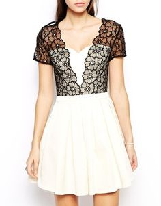 2bfc31d48a1 Chi Chi London Prom Dress with Lace Bodice at asos.com