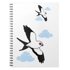 Swallow-tailed Kite in flight Spiral Notebook