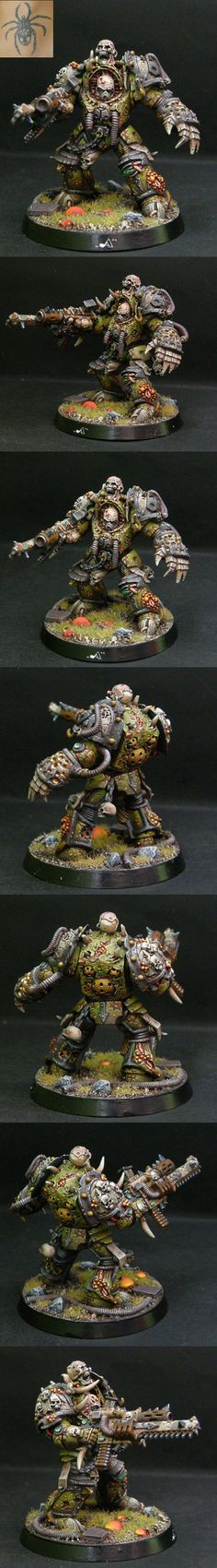 CoolMiniOrNot - DEATH GUARD TERMINATOR with forgeword part by Artur