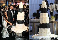 Bolo do casamento de Kim Kardashian e Kris Humphries criado pelo cake designer Patrick Hansen .