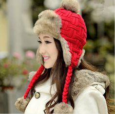 winter warm bomber hat for women hairball plush hat