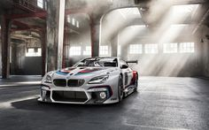 Download wallpapers BMW M6 GT3, 2017 cars, supercars, tuning, sportcars, M6, BMW