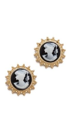 Juliet & Company Cameo Stud Earrings | SHOPBOP