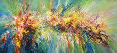 """Acrylmalerei - 320 x 145 cm ! Gemälde """"Colour Explosion XXXL 1"""" - ein Designerstück von Peter-Nottrott bei DaWanda"""