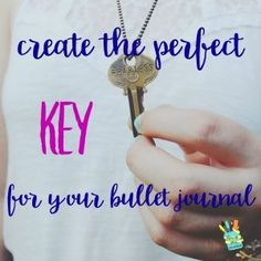 Create the Perfect Key for your Bullet Journal