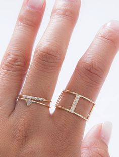 Stacked pave rings