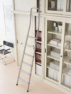 Armadi archivio metallici - ArredoTeam Ufficio Ladder Bookcase, Shelves, Detail, Home Decor, Shelving, Decoration Home, Room Decor, Shelving Units, Home Interior Design