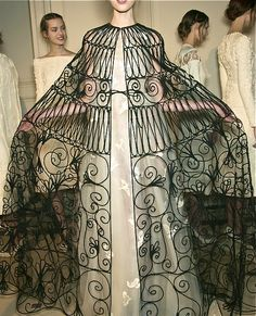 Valentino Couture S/S 2013 :: birds in flight + killer cape