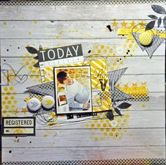 Boy or girl layout Kids Scrapbook, Scrapbook Paper Crafts, Mixed Media Scrapbooking, Scrapbook Cards, Scrapbook Sketches, Scrapbook Page Layouts, Photo Layouts, Layout Inspiration, Scrapbooks
