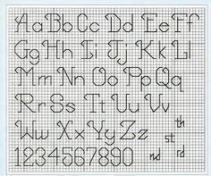 Free Cross Stitch Pattern: Cursive Backstitch Alphabet – By She - 236x197 - jpeg