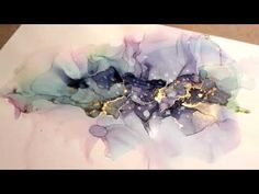 Tutorial on Alcohol Inks on Yupo Paper! (Such a pretty mess) - - NEW! Tutorial on Alcohol Inks on Yupo Paper! (Such a pretty mess). Alcohol Ink Crafts, Alcohol Ink Painting, Alcohol Ink Art, Watercolor Beginner, Watercolor And Ink, Amazing Drawings, Home And Deco, Acrylic Pouring, Art Tutorials