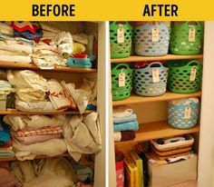 It's easy tomake life athome awhole lot more comfortable. Organization before and after inspiration.