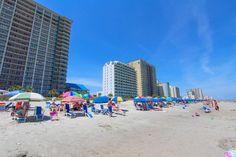 On the beach looking North.  Paradise Resort Condos for Sale | Myrtle Beach Condos   #paradiseresort  http://www.c21theharrelsongroup.com/paradise-resort/