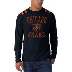 Amazon.com: NFL Chicago Bears Men's Bruiser Long Sleeve Tee, Large, Fall Navy: Clothing