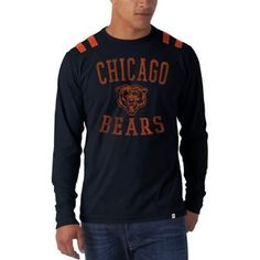 Amazon.com: NFL Chicago Bears Men's Bruiser Long Sleeve Tee, Large, Fall Navy: Clothing