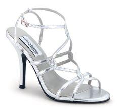 strappy silver high heel wedding shoes for my bridesmaids @Alyssa Davidson