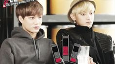 cute shocked kai <3 love how tao is just sitting there totally unfazed