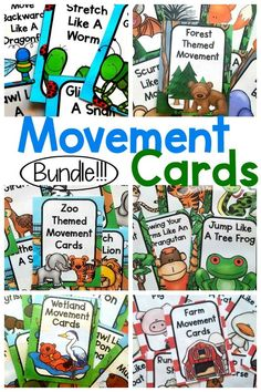 Preschool Fun ways to incorporate movement into the day! Use these for preschool gross motor, kinesthetic learning, or use during your therapy sessions. Great as an occu… - Preschool Children Activities Coping Skills Activities, Senses Activities, Fine Motor Activities For Kids, Infant Activities, Children Activities, Preschool Education, Preschool Themes, Pediatric Physical Therapy, Occupational Therapy