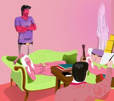 Christian Schubert's richly coloured, sex-obsessed and brilliantly bizarre illustrations.