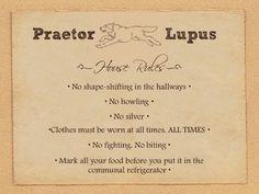 Praetor Lupus house rules (City of Lost Souls, p. 200)