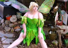 Great DIY Plus Size Tinker Bell Halloween Costume Idea