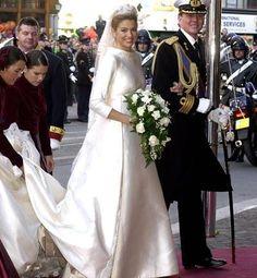 Vestido y ramo de Máxima Zorreguieta