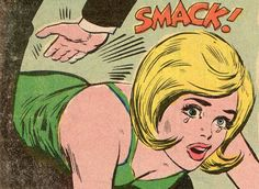 Vintage politically-incorrect comic art of the 1960's. In today's comics this babe would pull a ninja sword out of her fishnet stockings and carve this sexist pig into cocktail sausages!