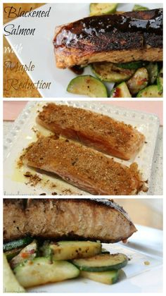 Blackened Salmon with Maple Reduction Recipe from Having Fun Saving and Cooking.
