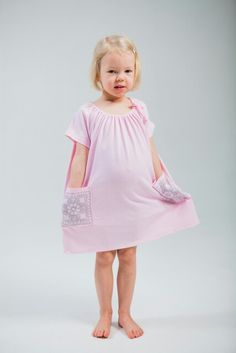 Pale pink girls Pouta-dress SS2015 www.tuunietloru.fi