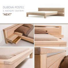 Furniture Designs JAVORINA :: Masívna dubová posteľ NEXT | Solid oak bed NEXT shop.javorina.eu